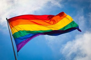 An LGBT Flag. Fraser Watts discusses gay marriage.
